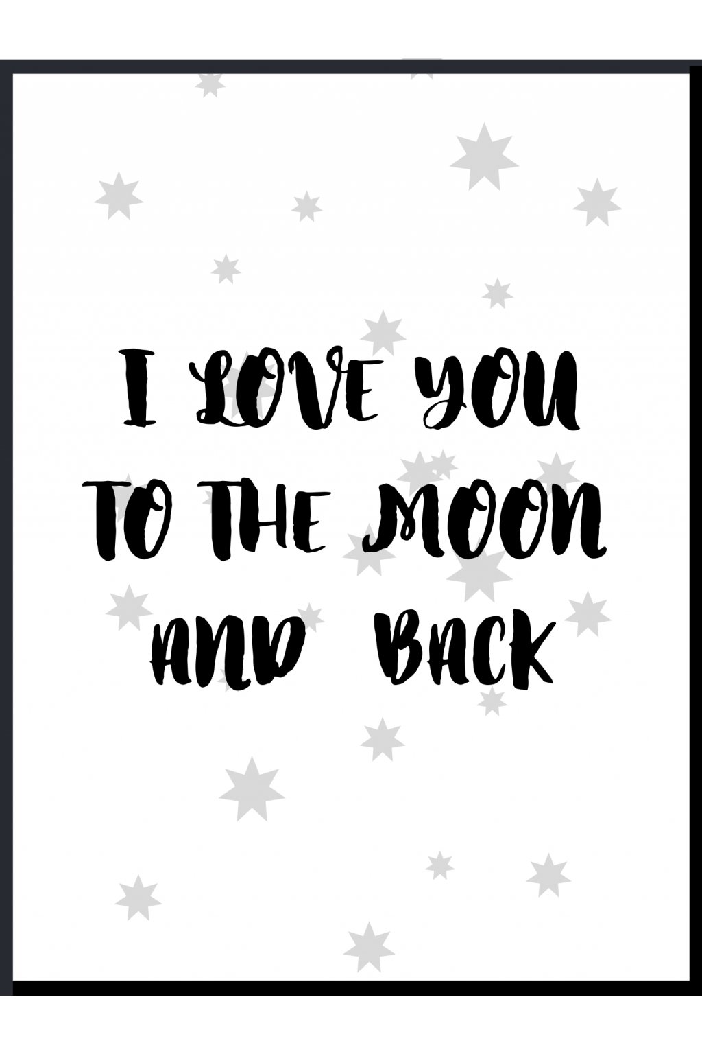 Plakát I love you to the moon 3